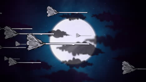Halloween-background-animation-with-witch-brooms-and-moon-3