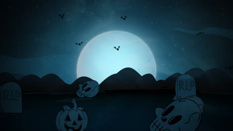 Halloween-background-animation-with-coffins-9