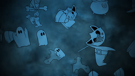 Halloween-background-animation-with-pumpkins-11