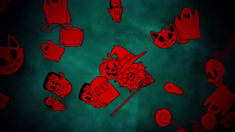 Halloween-background-animation-with-pumpkins-13