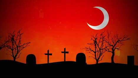 Halloween-background-animation-with-ghosts-in-cemetery-1