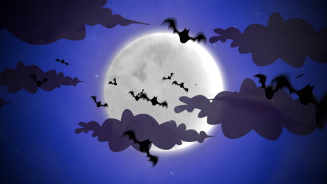 Halloween-background-animation-with-bats-and-moon-3