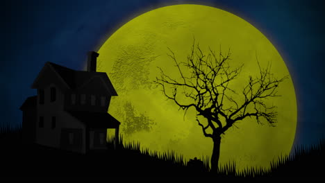 Halloween-background-animation-with-house-and-moon-3