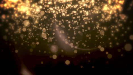 Bokeh-Amarillo-Y-Partículas-Cayendo-Feliz-Año-Nuevo-Y-Feliz-Navidad
