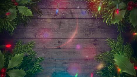 Animierte-Nahaufnahme-Bunte-Girlande-Und-Weihnachtliche-Grüne-Äste-1