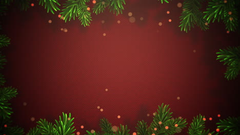 Animated-close-up-abstract-bokeh-and-Christmas-green-tree-branches