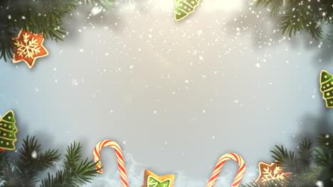 Primer-Plano-Animado-Ramas-De-árboles-Verdes-De-Navidad-Y-Juguetes