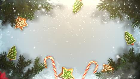 Primer-Plano-Animado-Ramas-De-árboles-Verdes-De-Navidad-Y-Juguetes-1
