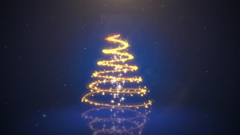 Primer-Plano-Animado-árbol-De-Navidad-Sobre-Fondo-Azul-Oscuro-5