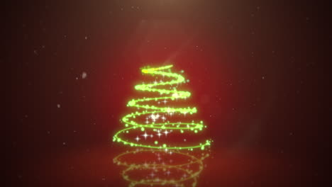 Animated-closeup-Christmas-tree-on-dark-red-background-1