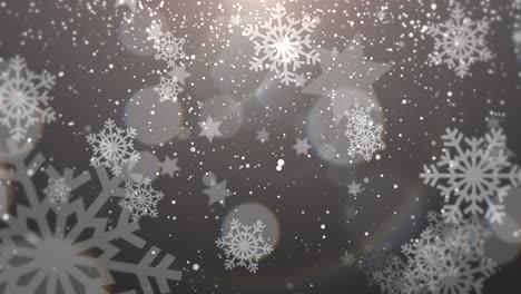 Copo-De-Nieve-Blanco-Cayendo-Feliz-Año-Nuevo-Y-Feliz-Navidad-Fondo-Brillante