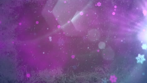 Purple-bokeh-and-snowflake-falling-Happy-New-Year-and-Merry-Christmas