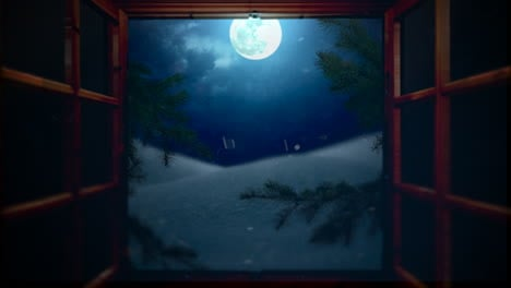 Animated-closeup-open-window-with-mountains-and-moon-landscape-1