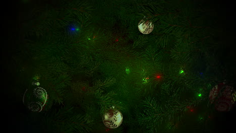 Animated-closeup-colorful-balls-and-green-tree-branches-3
