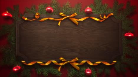 Bolas-Rojas-Animadas-De-Cerca-Y-Ramas-De-árboles-Verdes-De-Navidad-4