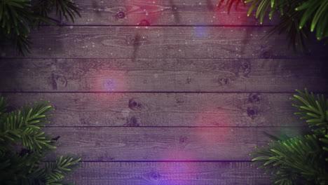 Animierte-Nahaufnahme-Bunte-Girlande-Und-Weihnachtliche-Grüne-Äste-3