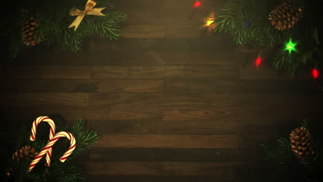 Animierte-Nahaufnahme-Bunte-Girlande-Und-Weihnachtliche-Grüne-Äste-5