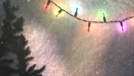 Animated-closeup-colorful-garland-and-Christmas-green-tree-branches-6