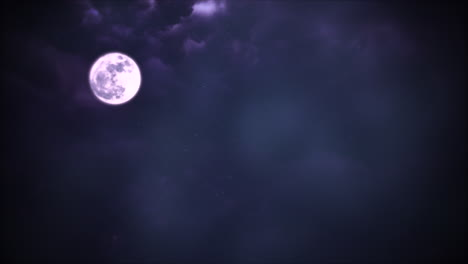 Mystical-animation-halloween-background-with-dark-moon-and-clouds