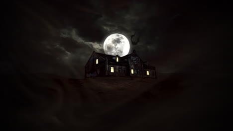 Mystical-horror-background-with-the-house-and-moon