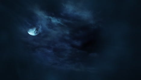 Mystical-animation-halloween-background-with-dark-moon-and-clouds-4