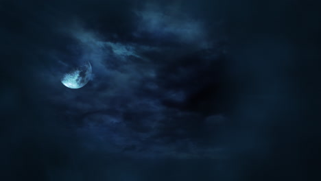 Mystical-animation-halloween-background-with-dark-moon-and-clouds-7