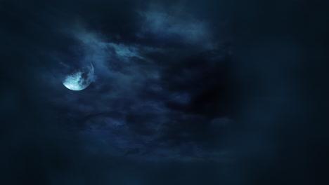 Mystischer-Animations-Halloween-Hintergrund-Mit-Dunklem-Mond-Und-Wolken-7