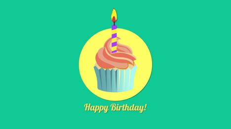 Primer-Plano-Animado-Texto-De-Feliz-Cumpleaños-Con-Muffin-1