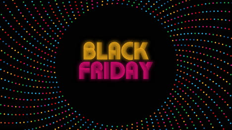 Animated-closeup-Black-Friday-text-on-holiday-background