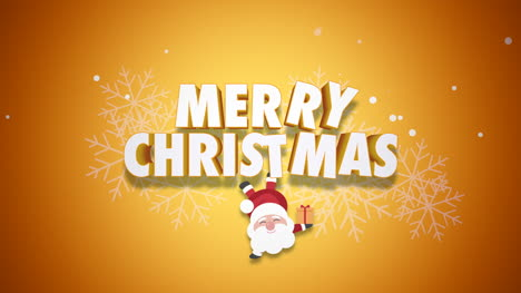 Animated-closeup-Happy-Merry-Christmas-text-and-Santa-Claus-with-gift-boxes