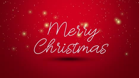 Animierter-Großansicht-Frohe-Weihnachten-Text-Auf-Rotem-Hintergrund