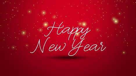 Animated-close-up-Happy-New-Year-text-on-red-background