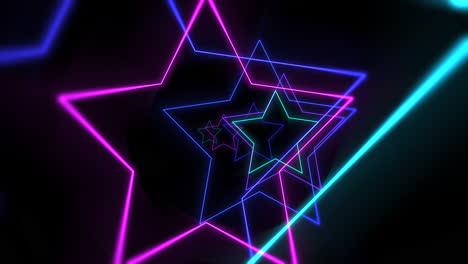 Movimiento-Colorido-Láser-Neón-Estrellas