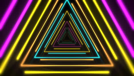 Movimiento-De-Triángulos-De-Neón-De-Colores