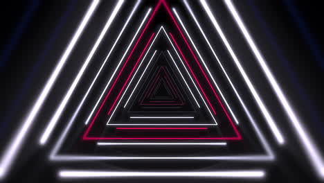 Motion-colorful-laser-neon-triangles