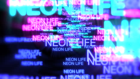 Motion-of-neon-text-Neon-Life-in-dark-background-1