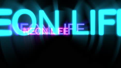 Motion-of-neon-text-Neon-Life-in-dark-background-2