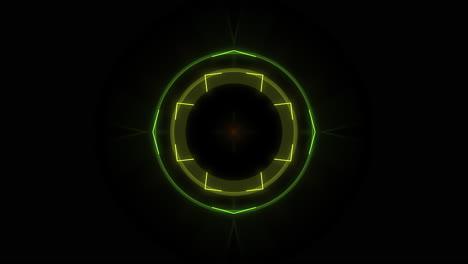 Movimiento-Colorido-Neón-Forma-Geométrica-En-El-Espacio