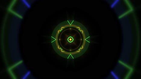 Movimiento-Colorido-Neón-Forma-Geométrica-En-El-Espacio-1