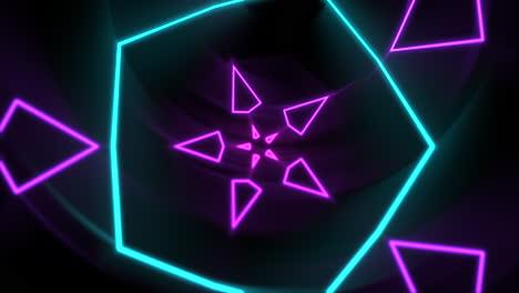 Movimiento-Colorido-Neón-Forma-Geométrica-En-El-Espacio-2