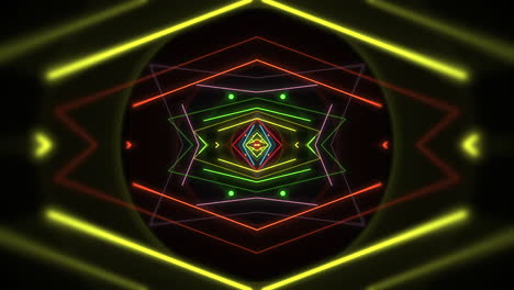 Motion-colorful-neon-geometric-shape-in-space-10