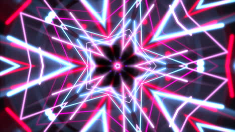 Motion-colorful-neon-geometric-shape-in-space-4