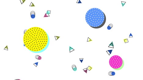 Motion-abstract-geometric-shapes-dots-and-triangles