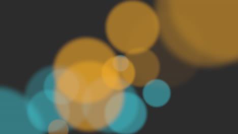 Animación-Volar-Partículas-Y-Bokeh-Amarillo-Y-Azul-Abstracto