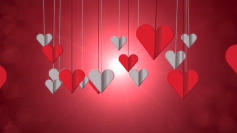 Animation-closeup-motion-romantic-hearts-on-Valentines-day-2