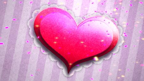 Animación-Primer-Plano-Movimiento-Corazón-Romántico-En-El-Día-De-San-Valentín