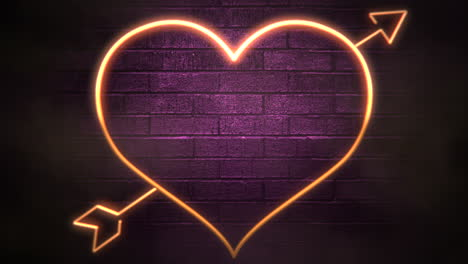 Animation-closeup-motion-romantic-heart-on-Valentines-day-2