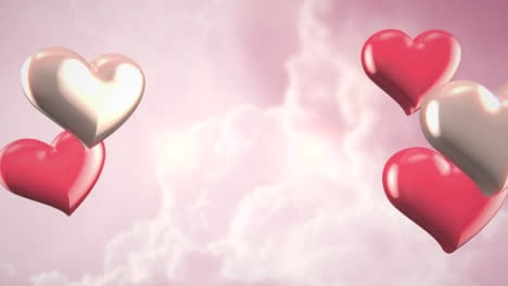 Animation-closeup-motion-romantic-hearts-on-Valentines-day-6