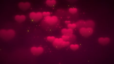 Animation-closeup-motion-romantic-hearts-on-Valentines-day-7