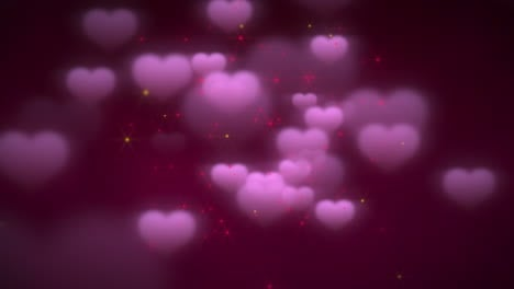 Animation-closeup-motion-romantic-hearts-on-Valentines-day-8